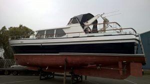 16.5 mtr motorjacht – romp opnieuw gespoten
